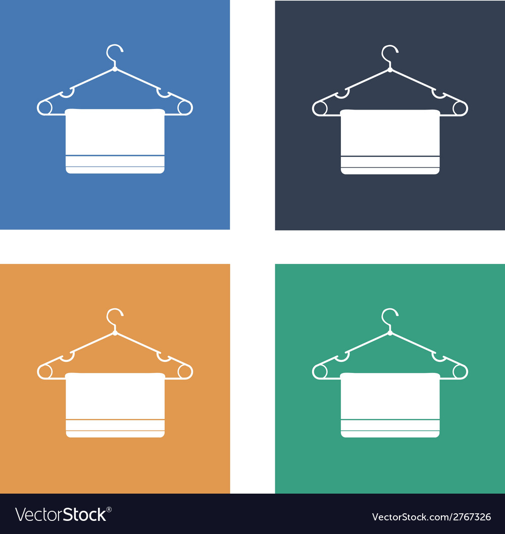 Clothes hanger flat icon set vector | Price: 1 Credit (USD $1)