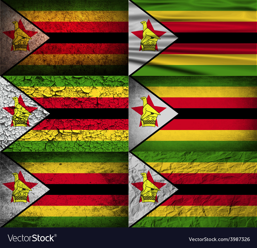 Flag of zimbabwe with old texture vector | Price: 1 Credit (USD $1)