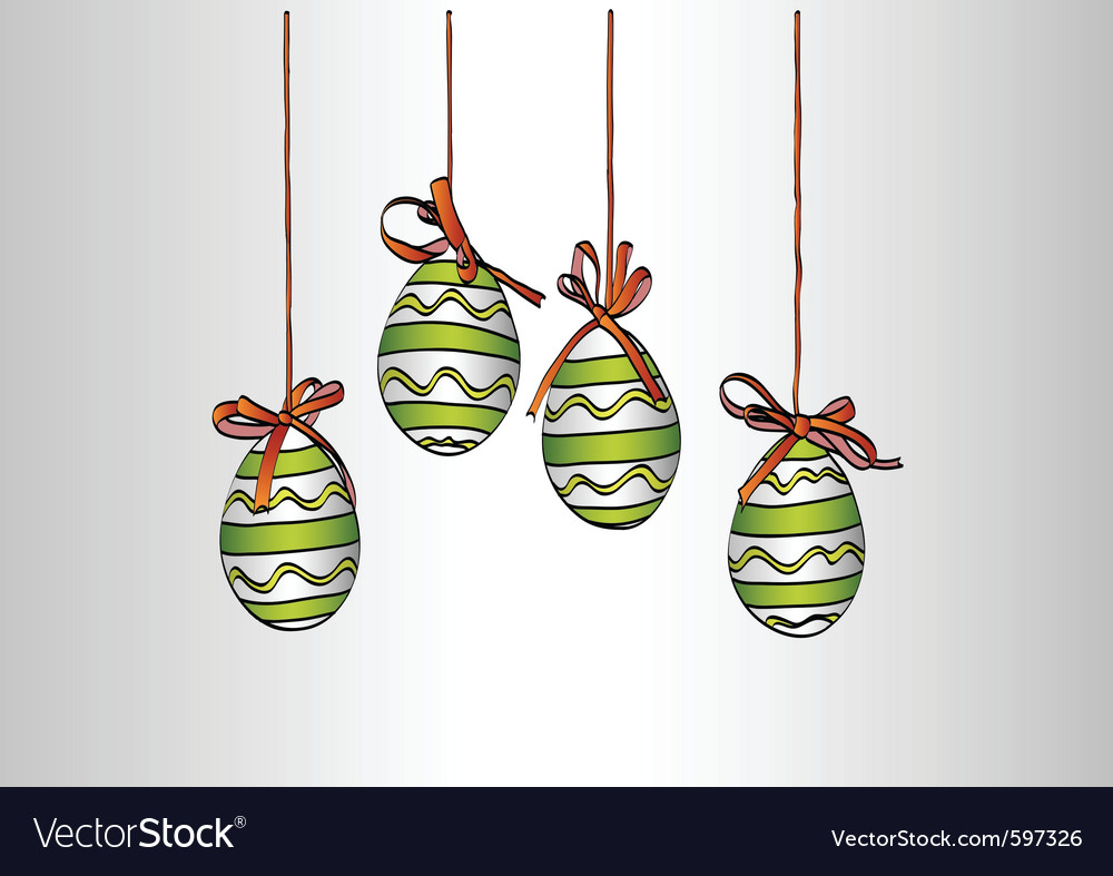 Hanging easter eggs vector | Price: 1 Credit (USD $1)