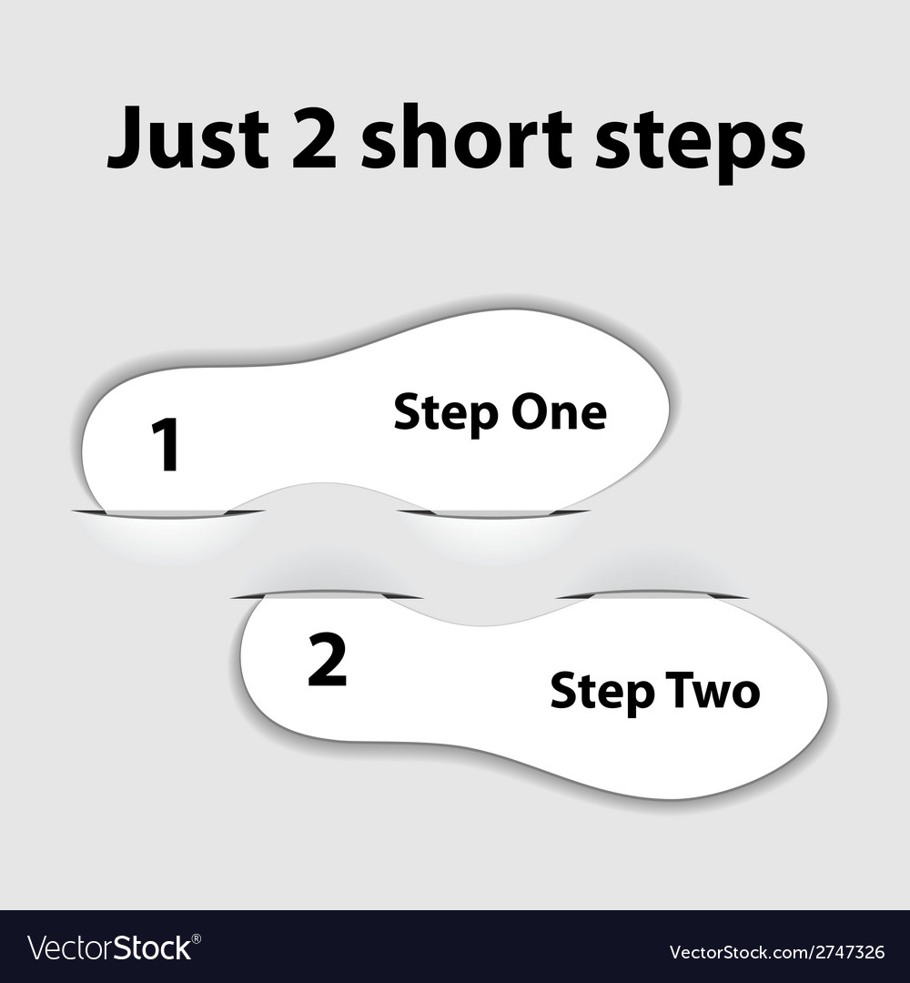 Paper imprint short steps vector | Price: 1 Credit (USD $1)