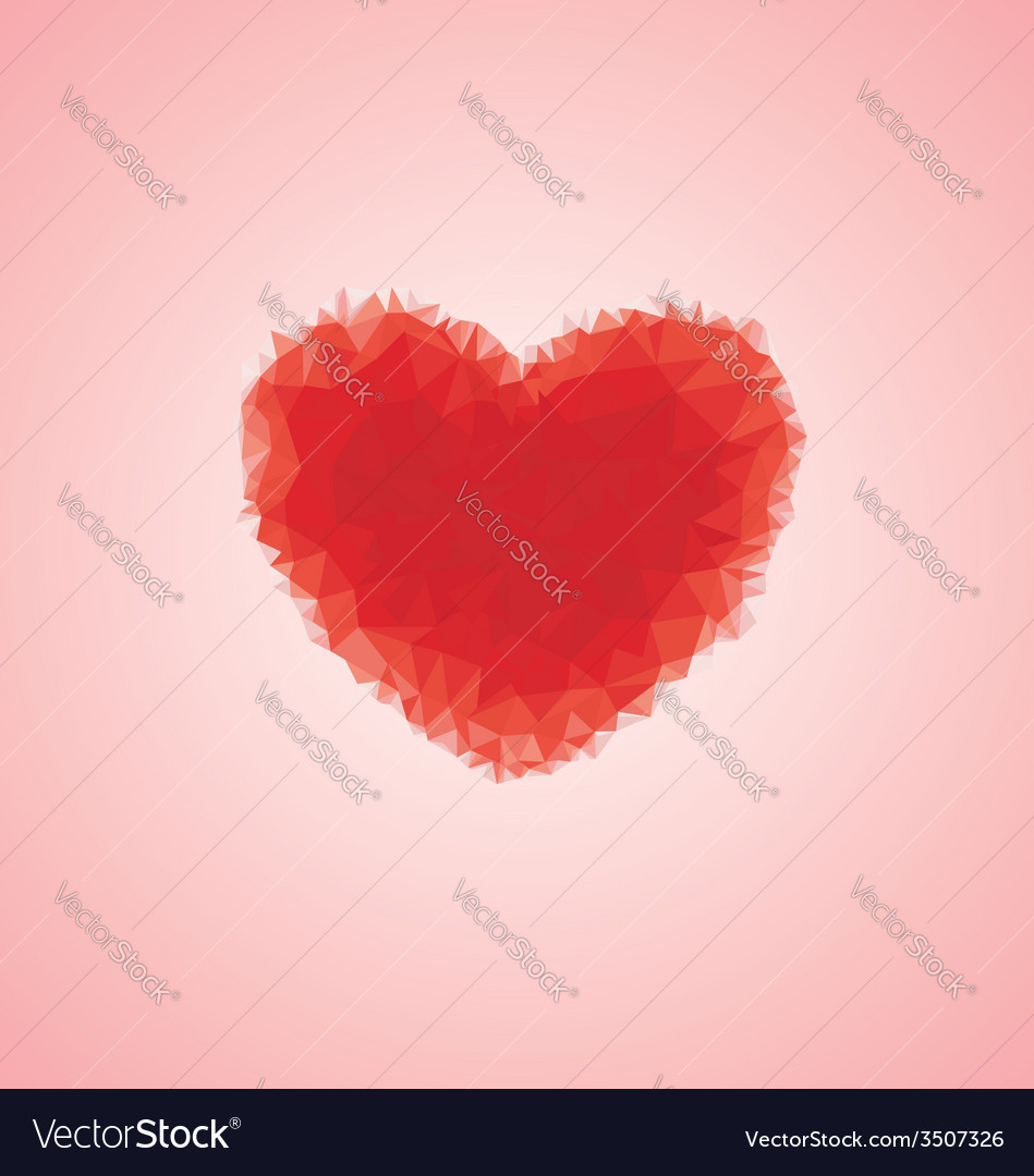 Ruby crystal shape heart vector | Price: 1 Credit (USD $1)