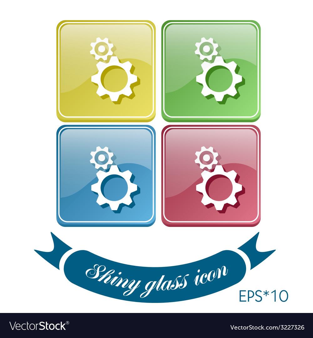 Symbol settings cogwheel icon setting and repair vector | Price: 1 Credit (USD $1)