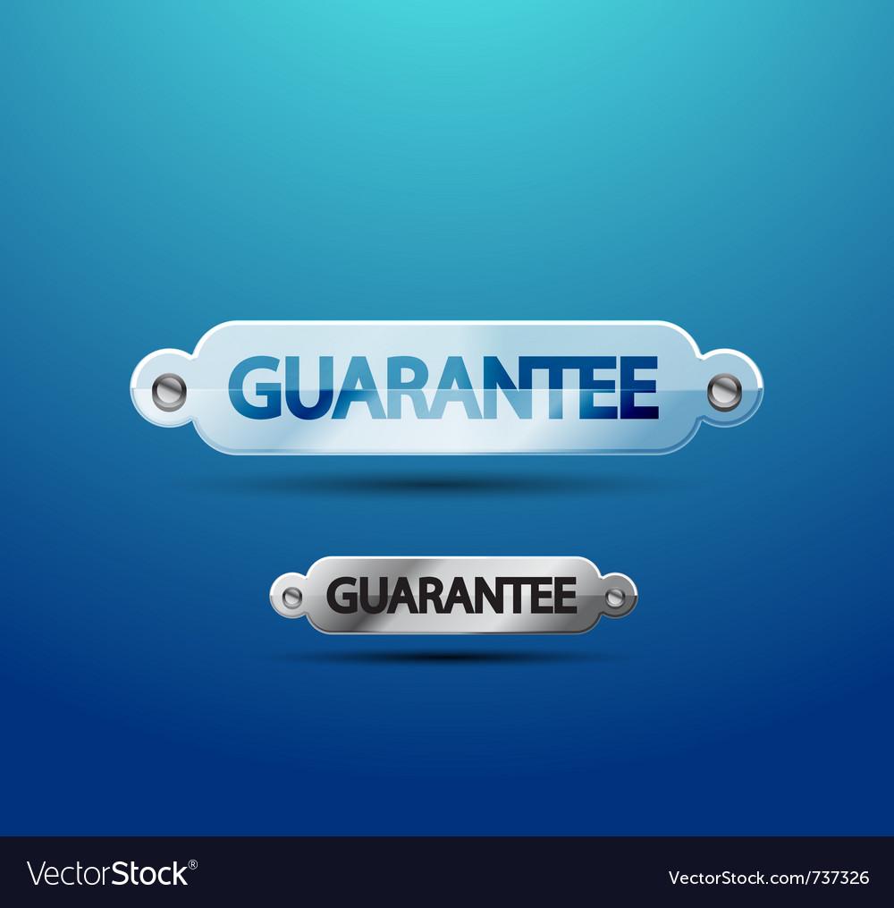 Transparent guarantee label vector | Price: 1 Credit (USD $1)