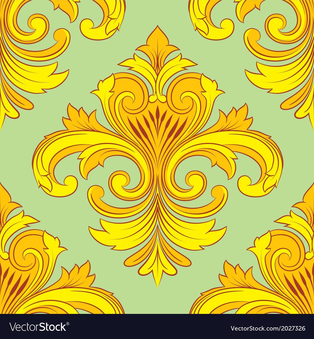 Vintage ornament pattern vector | Price: 1 Credit (USD $1)