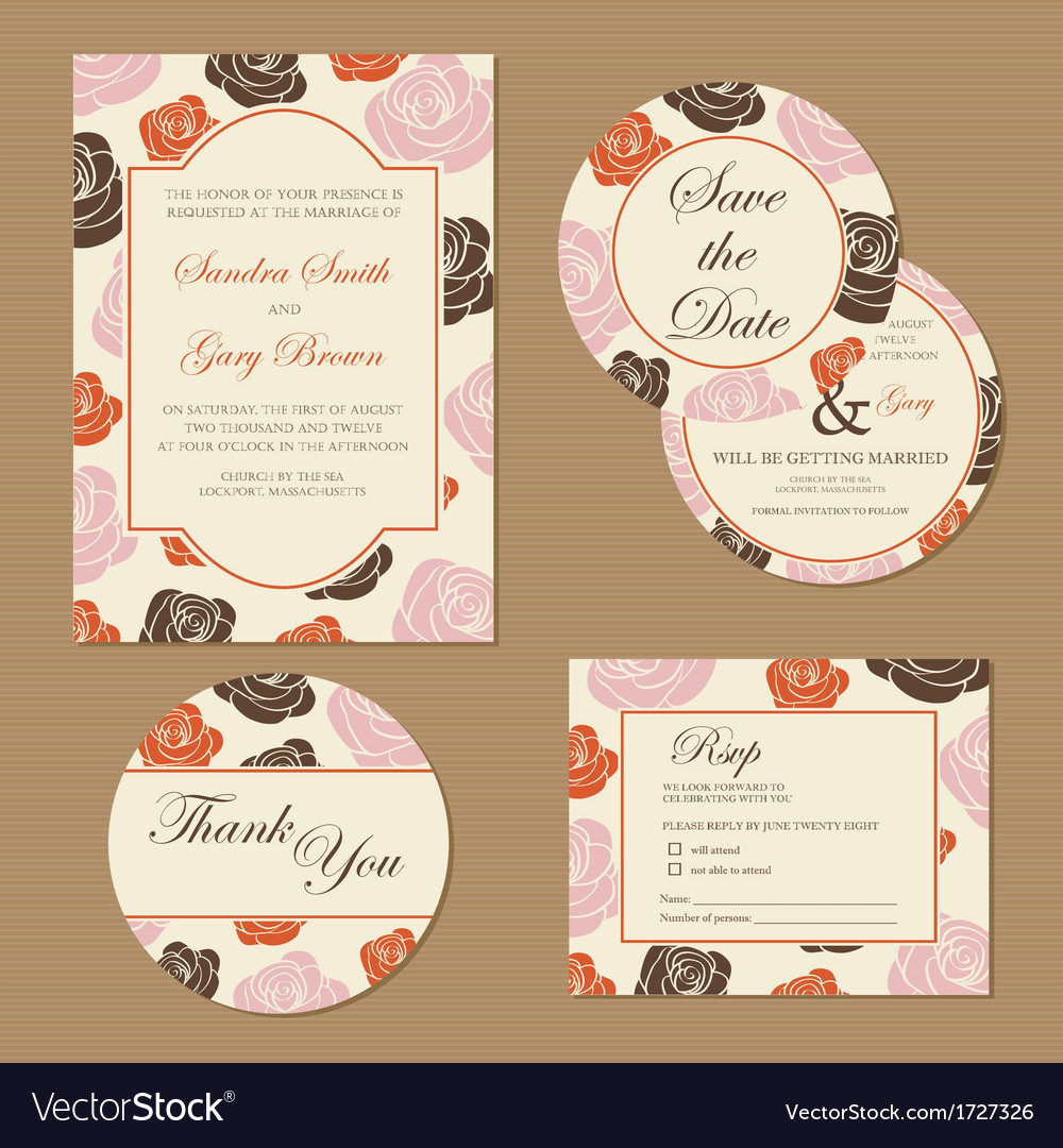 Wedding set with roses vector | Price: 1 Credit (USD $1)