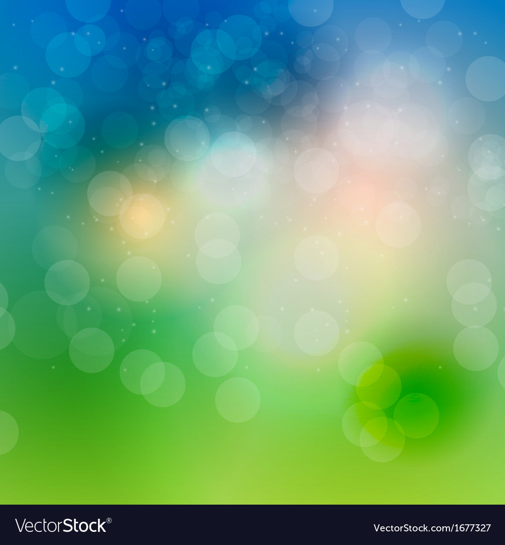 Abstract natural light background vector