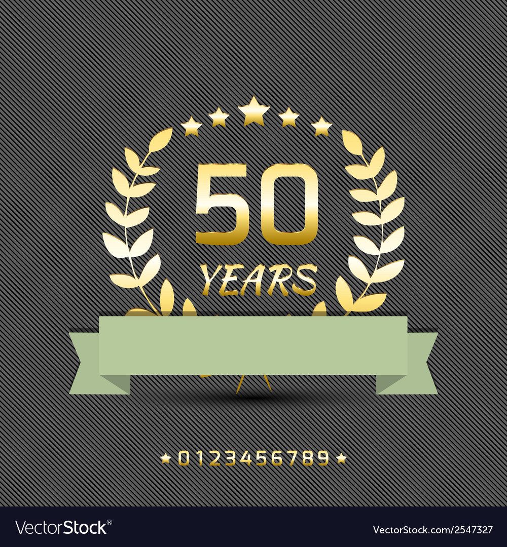 Anniversary goleden sign vector | Price: 1 Credit (USD $1)