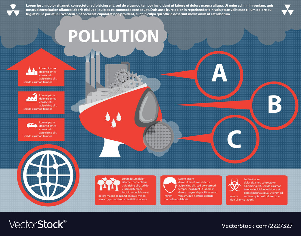City pollution infographic vector | Price: 1 Credit (USD $1)