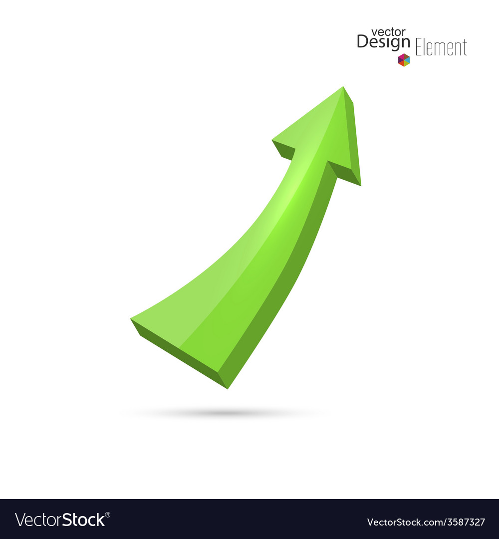 Green arrow directed up vector   Price: 1 Credit (USD $1)