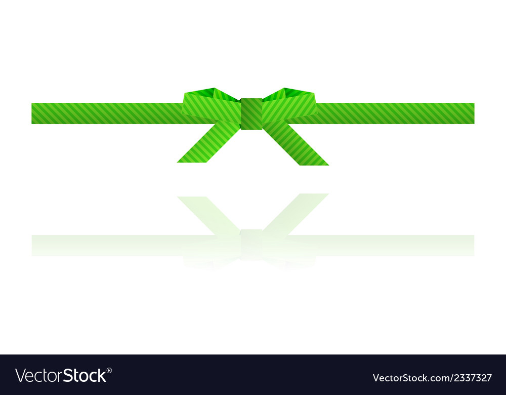 Green dashed bow and green dashed ribbon vector | Price: 1 Credit (USD $1)