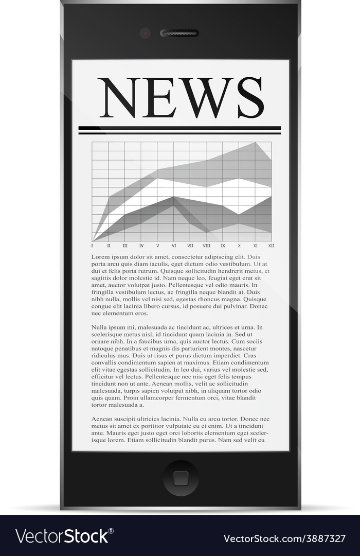 News on phone display vector | Price: 1 Credit (USD $1)