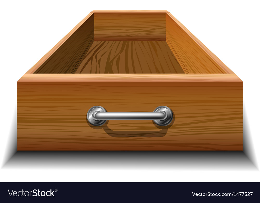 Opened wood drawer vector | Price: 1 Credit (USD $1)
