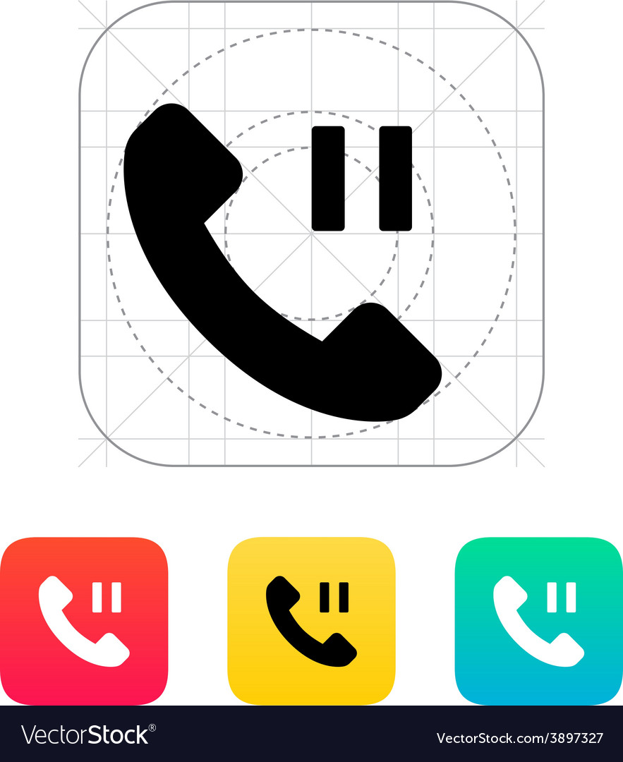 Phone call pause icon vector | Price: 1 Credit (USD $1)
