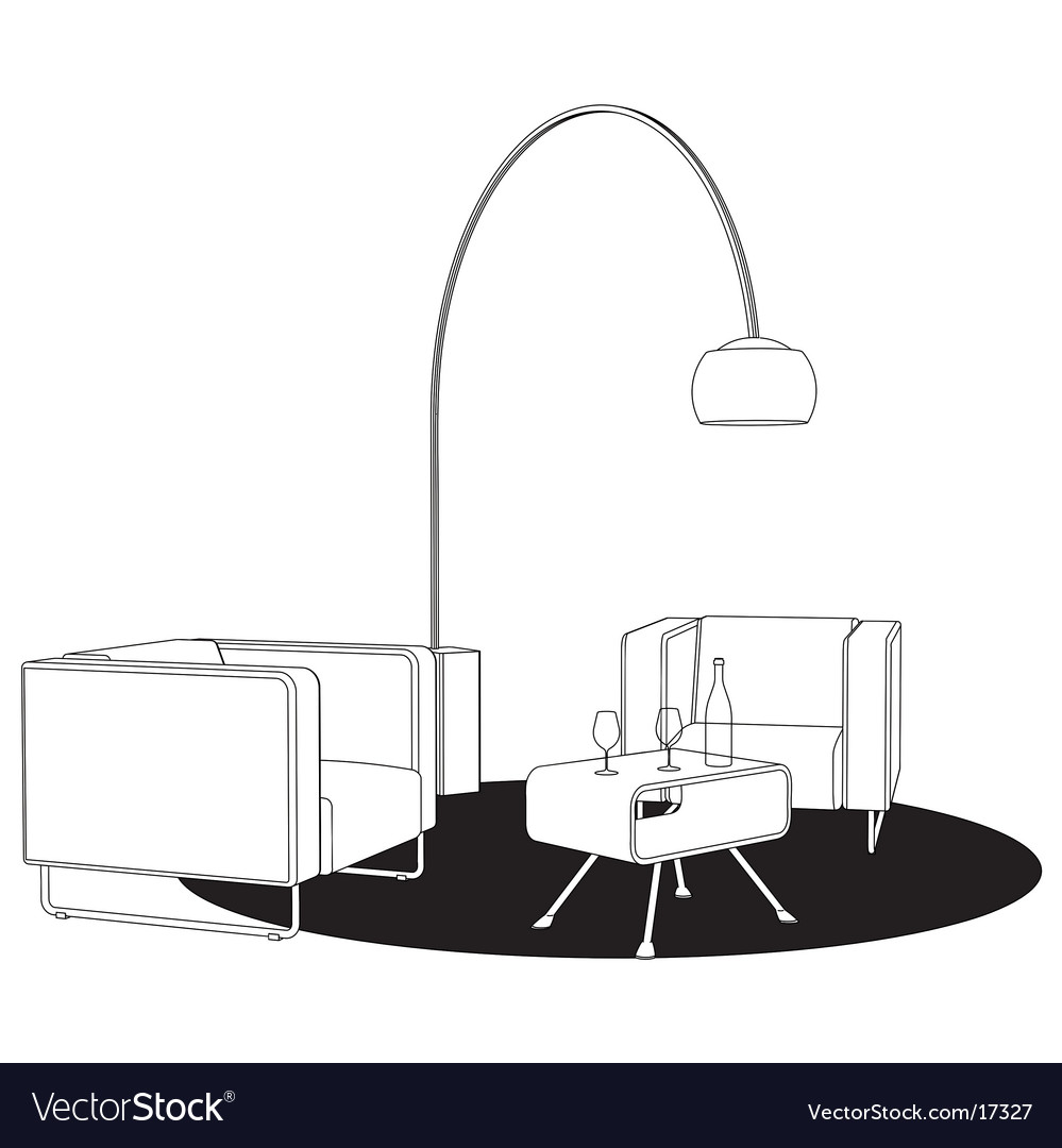 Sitting area vector | Price: 1 Credit (USD $1)