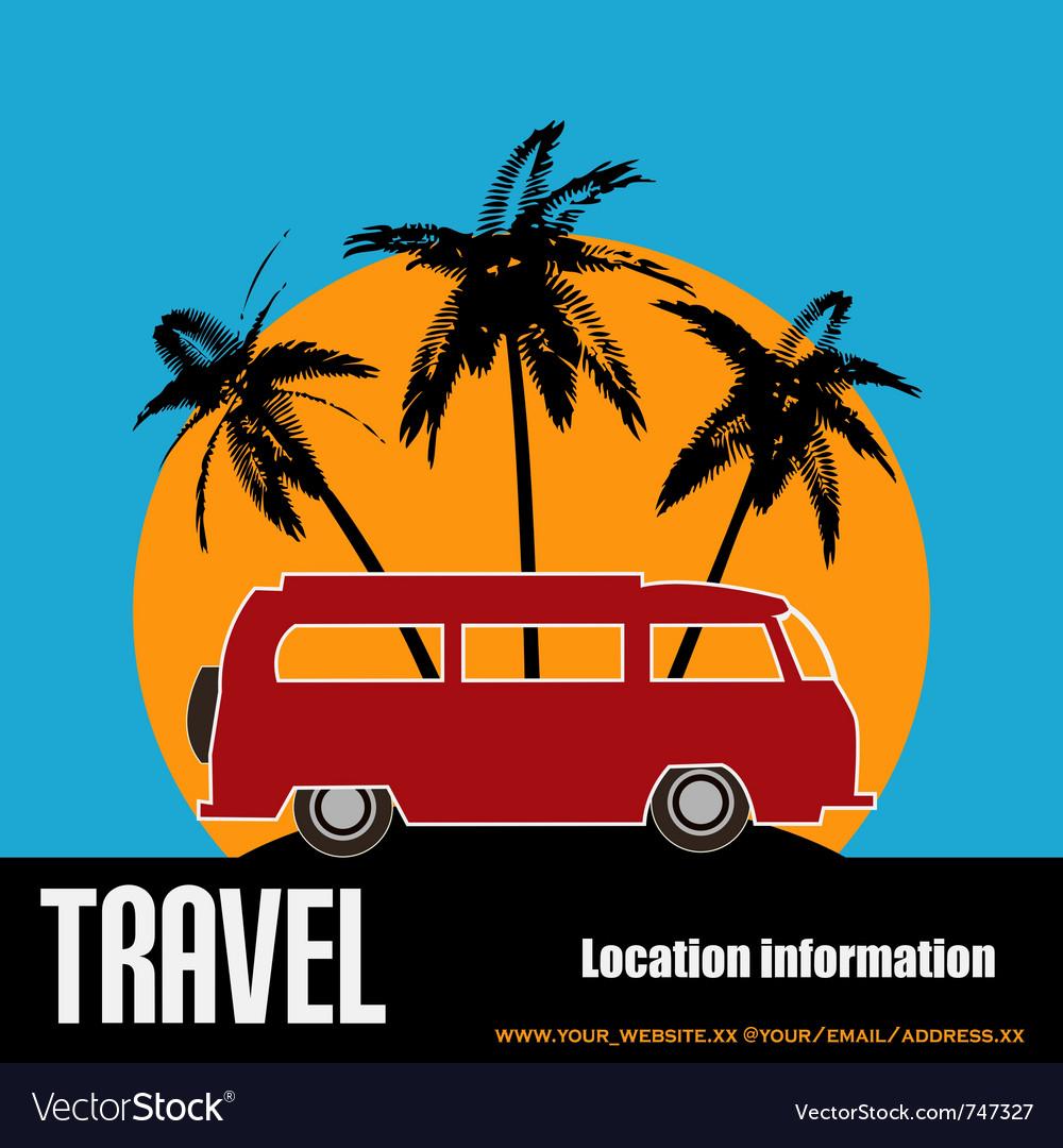 Tropical camper van vector | Price: 1 Credit (USD $1)