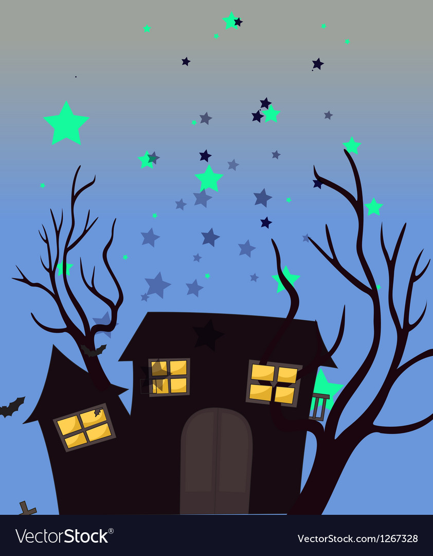 A haunted house vector | Price: 1 Credit (USD $1)