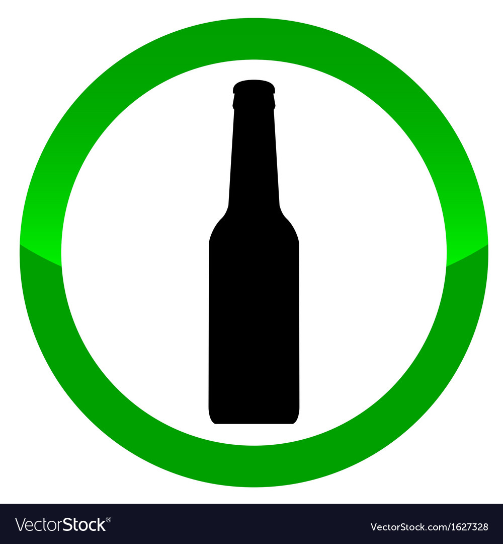 Alcohol sign vector | Price: 1 Credit (USD $1)