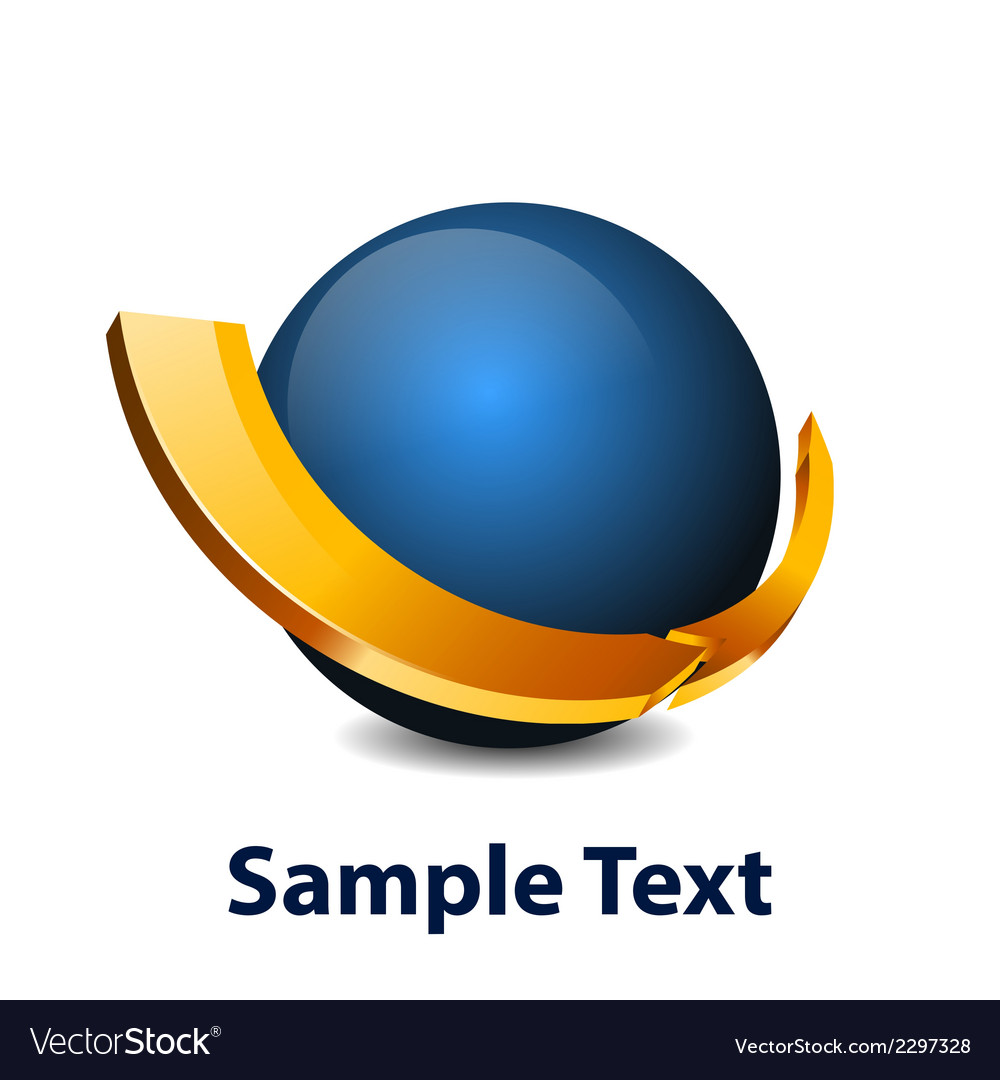 Blue sphere icon vector | Price: 1 Credit (USD $1)