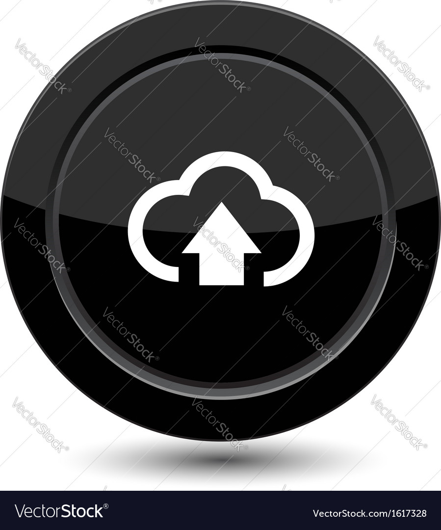 Button with arrow in cloud vector | Price: 1 Credit (USD $1)