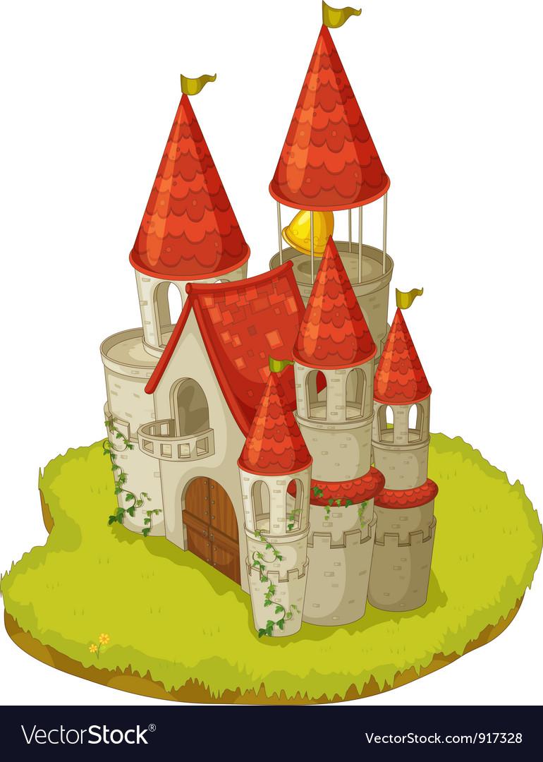 Cartoon castle vector | Price: 3 Credit (USD $3)