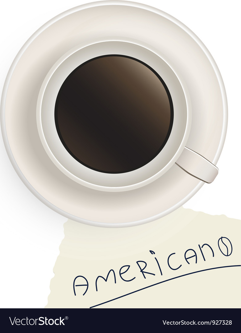 Cup of black coffee with a note vector | Price: 1 Credit (USD $1)