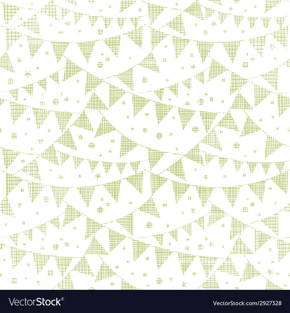 Green textile party bunting seamless pattern vector | Price: 1 Credit (USD $1)