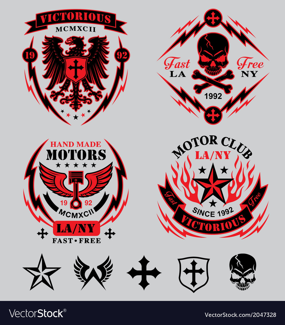 Motorcycle emblems vector | Price: 1 Credit (USD $1)