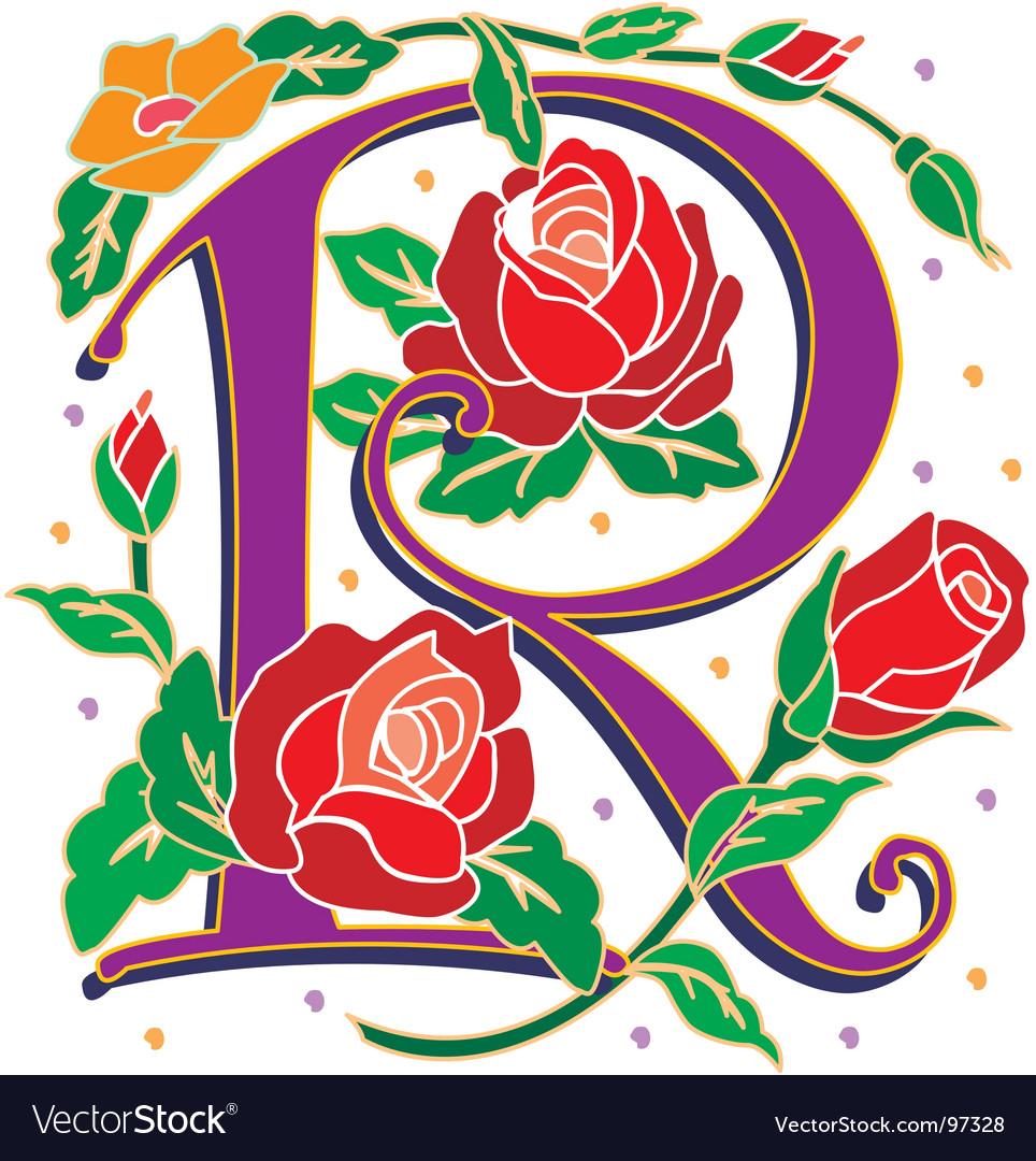 Rosette letter r vector | Price: 1 Credit (USD $1)