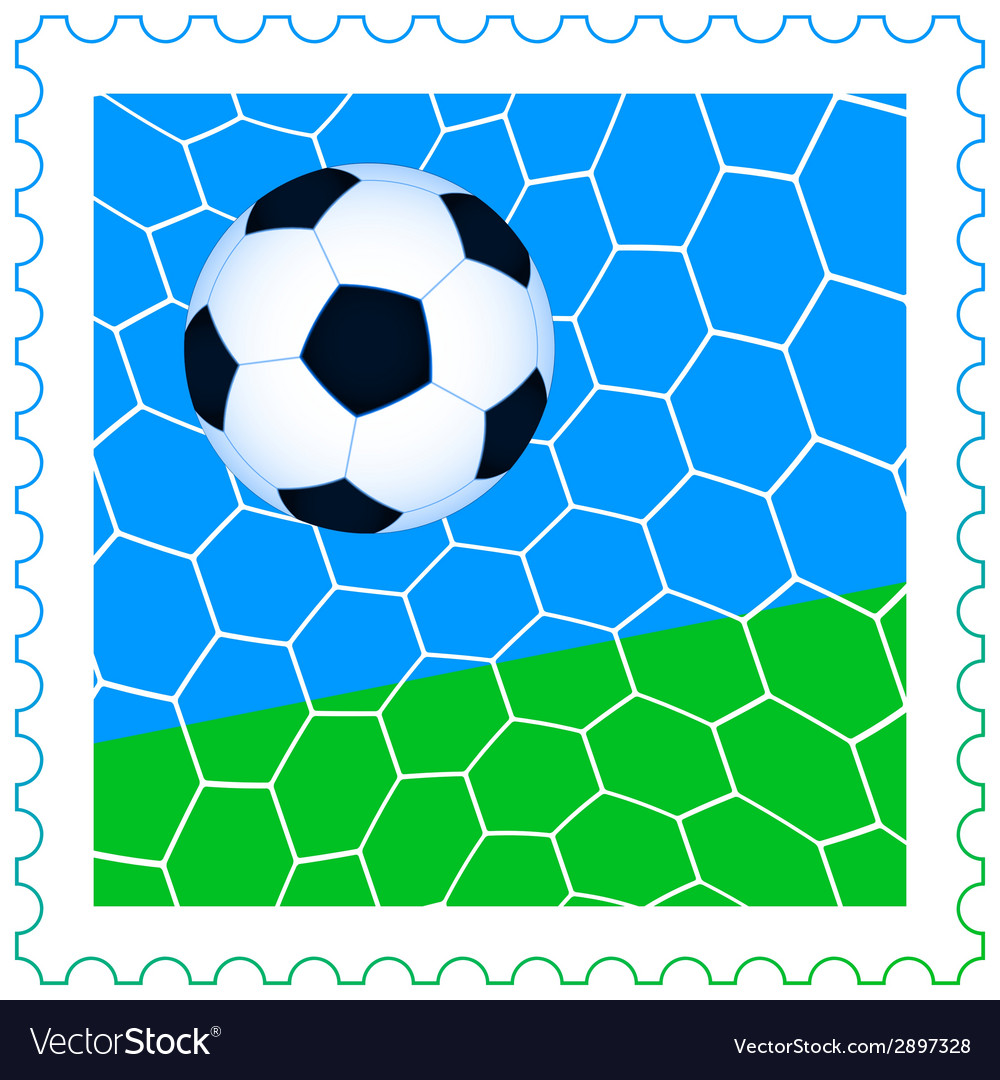 Soccer ball on the stamp vector | Price: 1 Credit (USD $1)