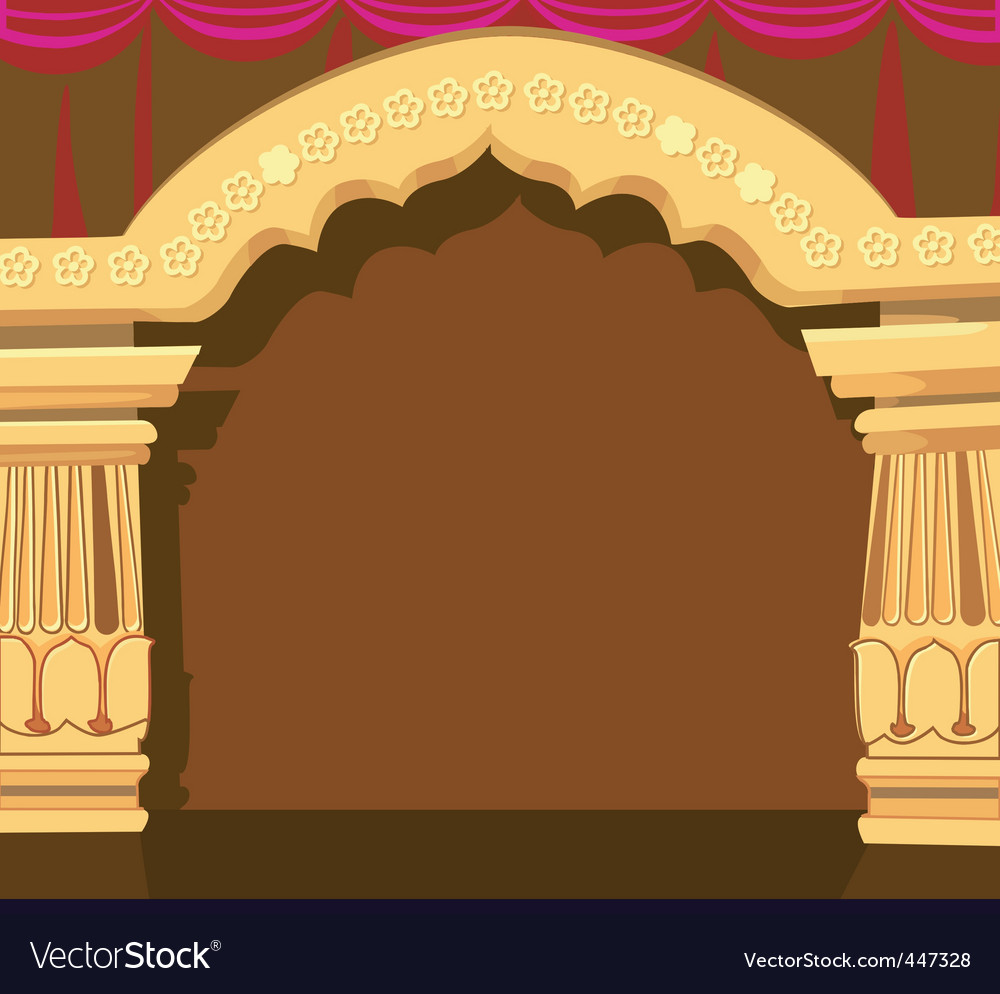 Temple archway vector | Price: 1 Credit (USD $1)