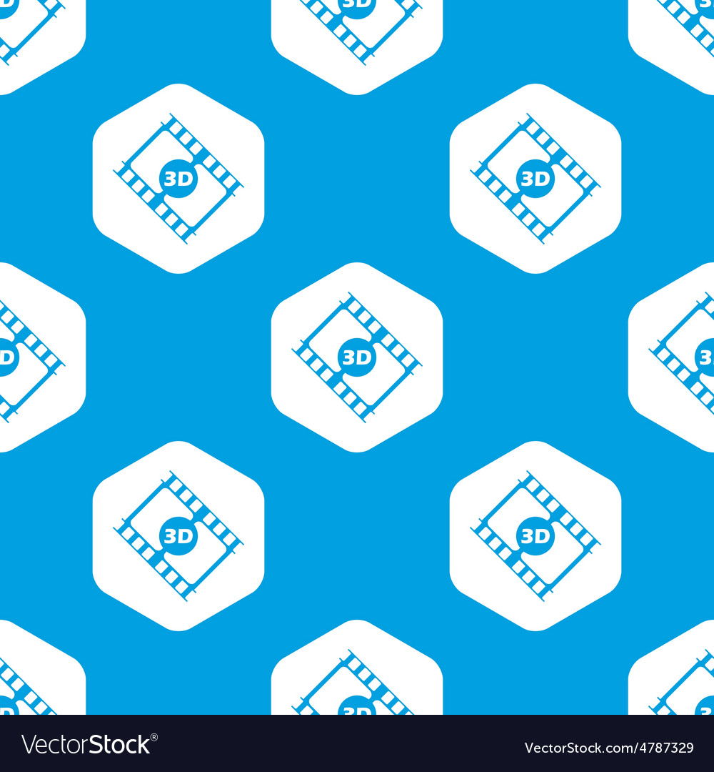 3d movie hexagon pattern vector | Price: 1 Credit (USD $1)