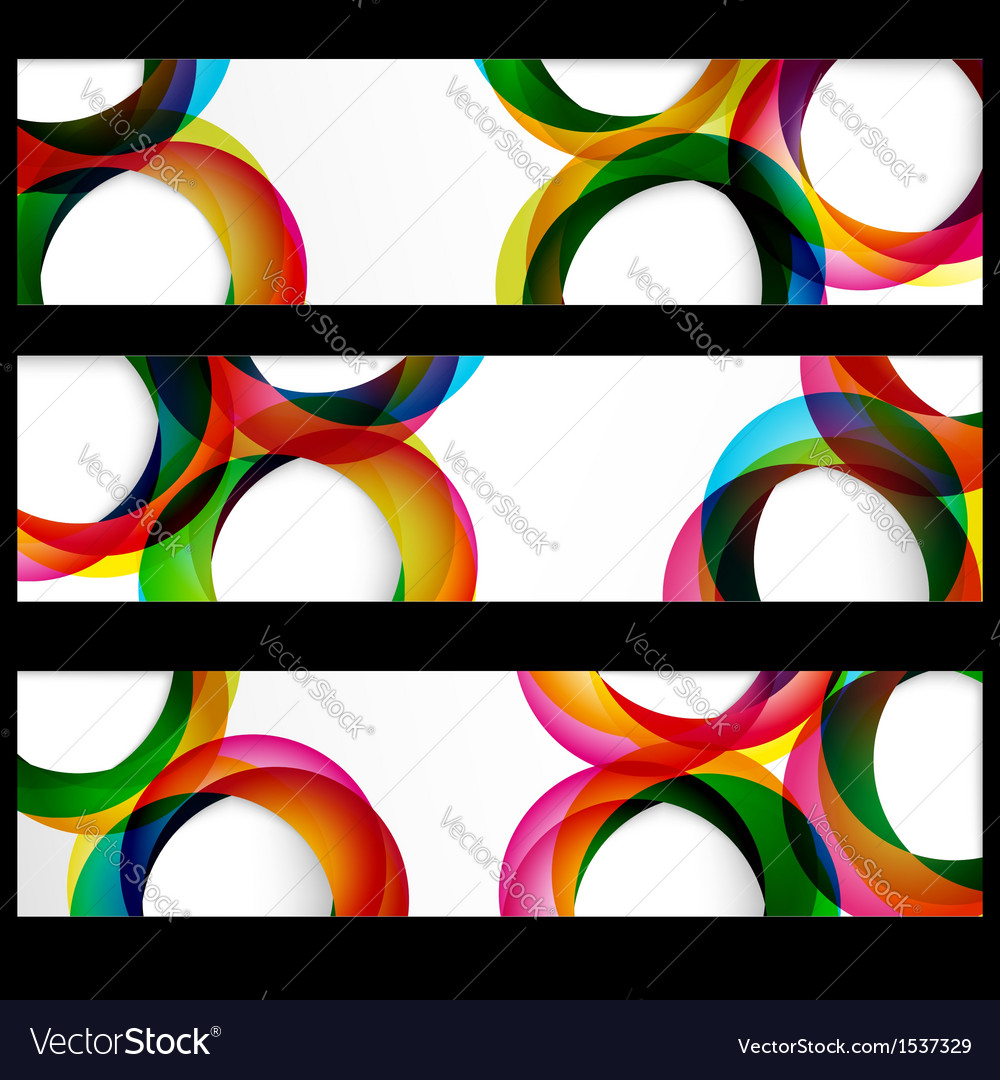 Abstract circles banner vector | Price: 1 Credit (USD $1)