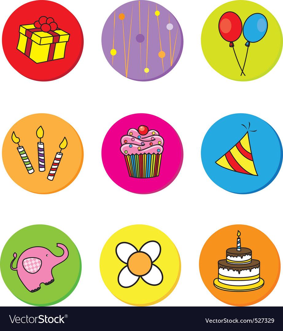 Birthday icons vector   Price: 1 Credit (USD $1)