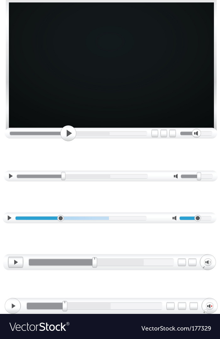 Browser video players vector | Price: 1 Credit (USD $1)