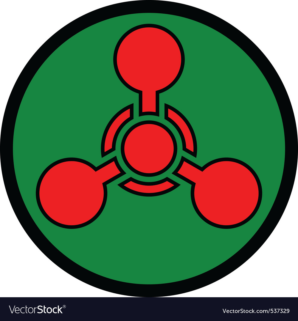 Chemical weapon symbol vector | Price: 1 Credit (USD $1)