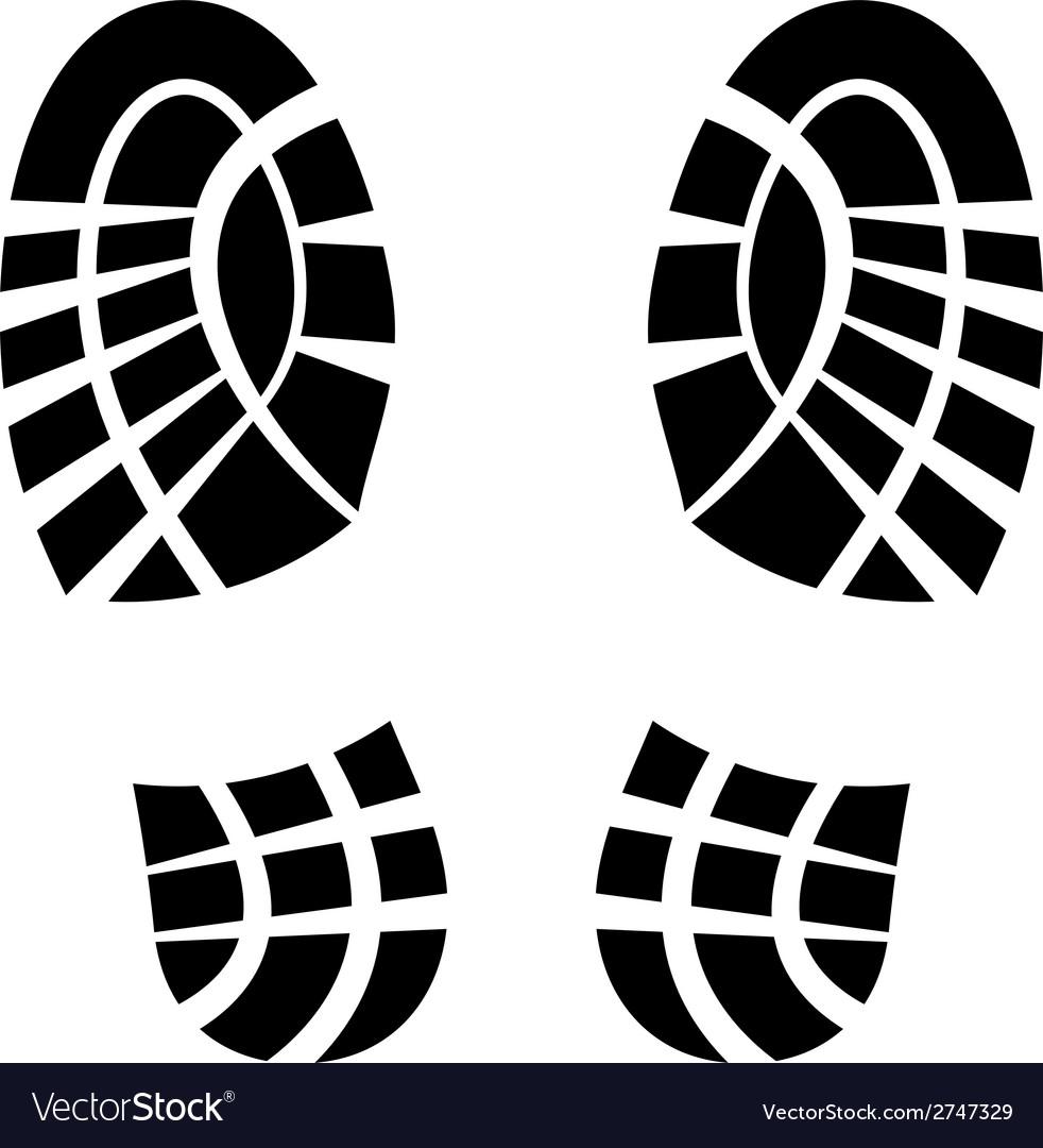 Clean shoe imprints vector | Price: 1 Credit (USD $1)