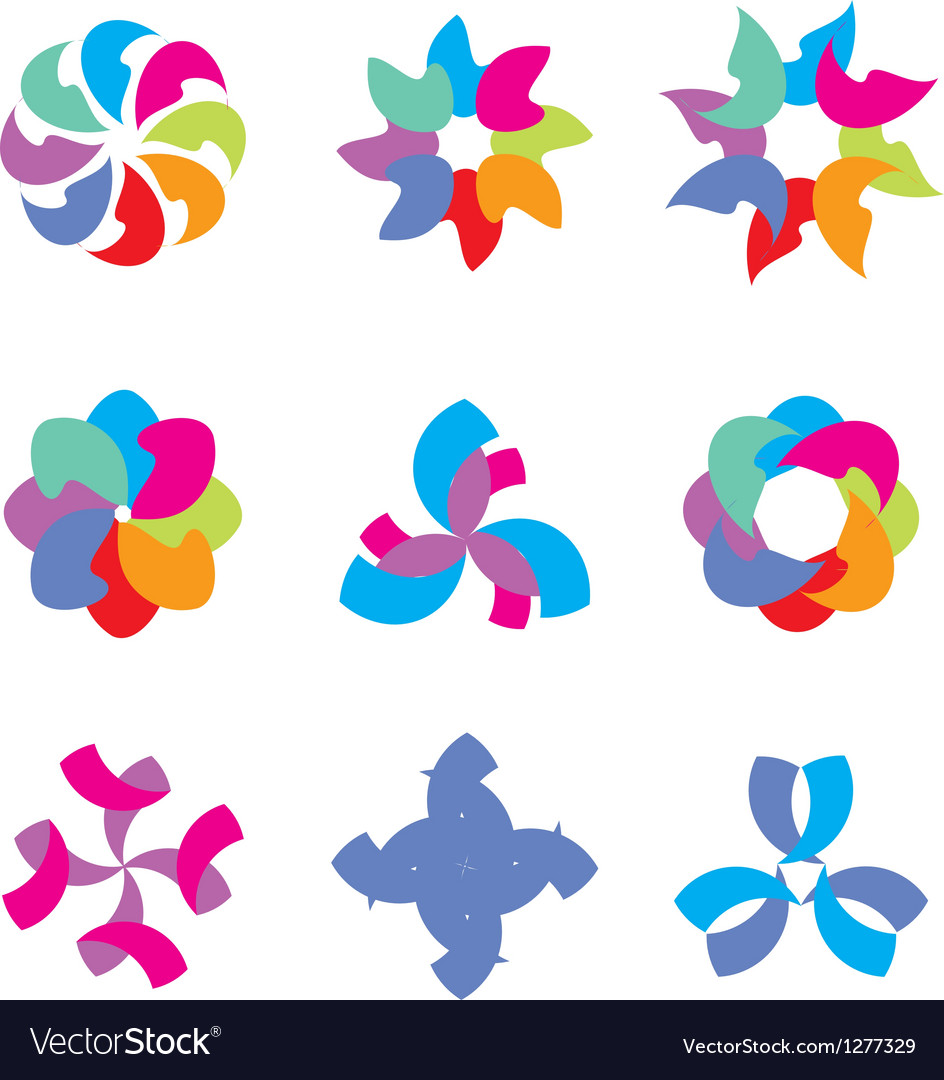 Colorful abstract icons vector | Price: 1 Credit (USD $1)