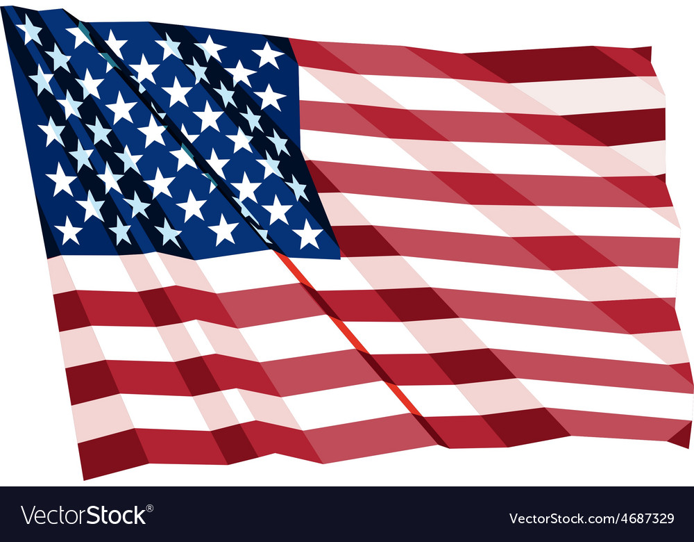 Crumpled us flag vector | Price: 1 Credit (USD $1)