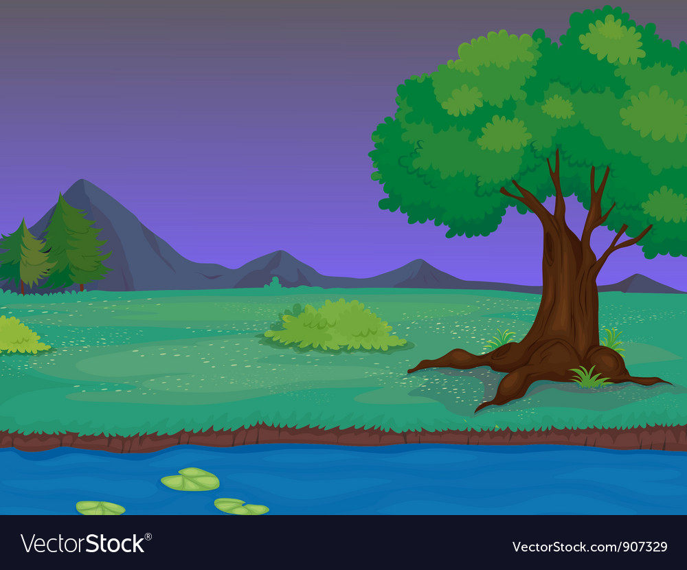 Dusk scene vector | Price: 3 Credit (USD $3)