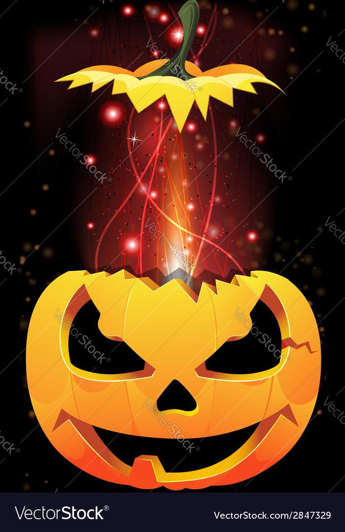 Exploding jack o lantern vector | Price: 1 Credit (USD $1)