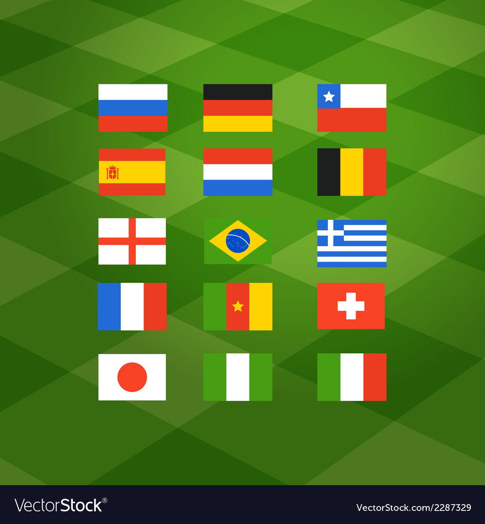 Flags of different national football teams vector | Price: 1 Credit (USD $1)