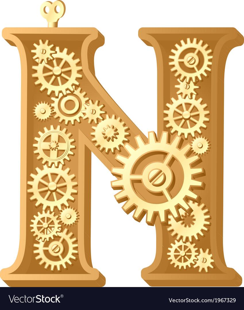 Mechanical alphabet vector | Price: 1 Credit (USD $1)