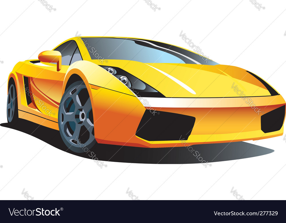 Modern sports car vector | Price: 3 Credit (USD $3)