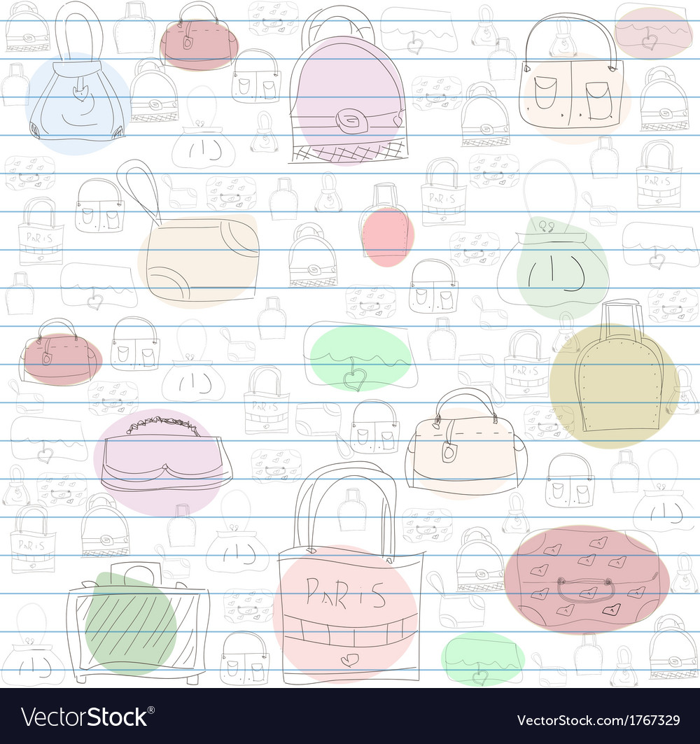 Seamless pattern for ladies handbags vector | Price: 1 Credit (USD $1)