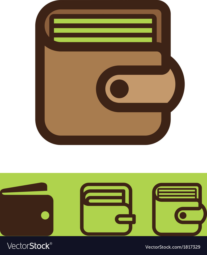 Set of wallet icon vector | Price: 1 Credit (USD $1)