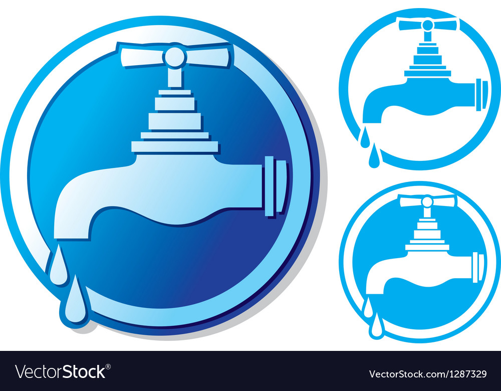 Water tap symbol vector | Price: 1 Credit (USD $1)