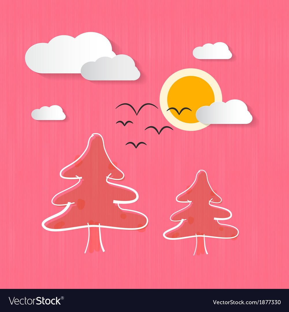 Abstract nature pink background vector | Price: 1 Credit (USD $1)