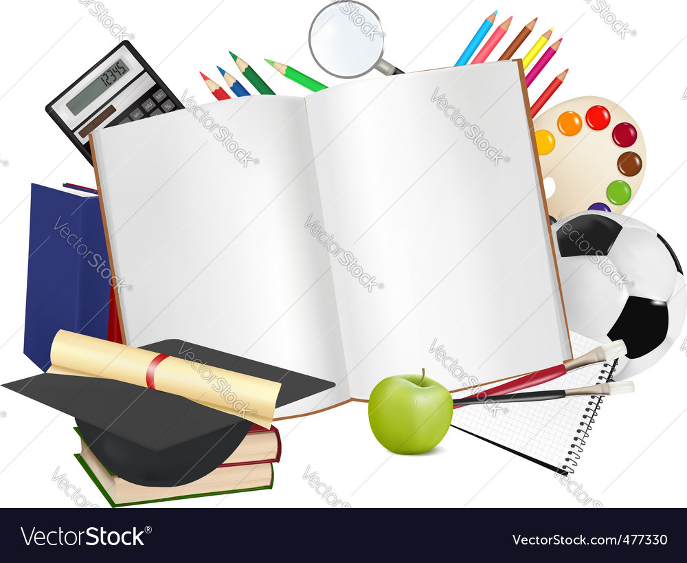 Back to school background vector | Price: 3 Credit (USD $3)