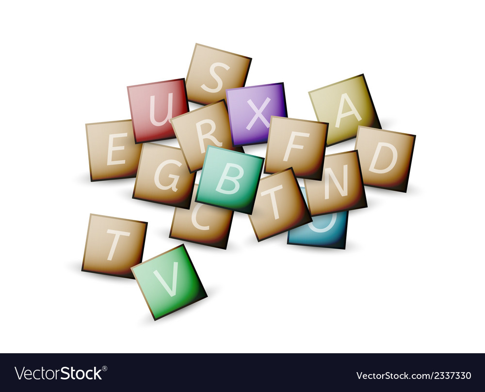 Cubes and letters vector | Price: 1 Credit (USD $1)
