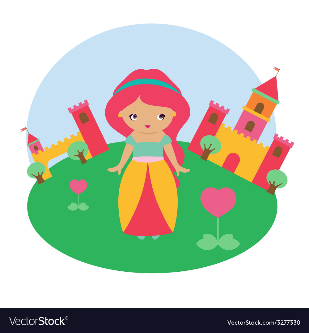 Cute princess character vector | Price: 1 Credit (USD $1)